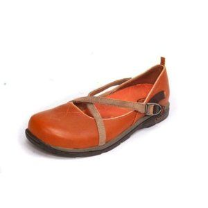 NWOB CHACO mary jane slip on criss cross leather s